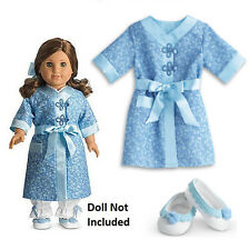 "American Girl REBECCA ROBE & SLIPPERS for 18"" Doll Rebecca's Outfit Bathrobe NEW"