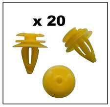 20 x Interni BMW clip (giallo) per pannello Trim, Porta Carta & Rivestimento di avvio