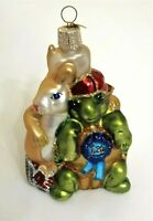 "The Tortoise & The Hare Blown Glass Christmas Ornament 4"" Vintage"