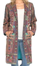 $680 Johnny Was Embroidered Coat Small 2 4 Notch Collar Lined Colorful Pockets