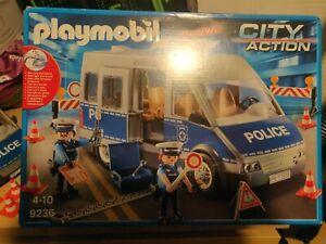 Playmobil 9236 Polizei-Mannschaftswagen mit Licht und Sound - Neuwertig