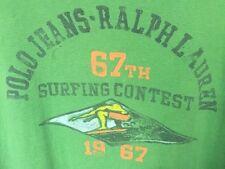 Polo Jeans Co. Ralph Lauren 67th Surfing Contest Green Tee T Shirt Men M Vintage