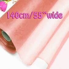 2 Yards Shell Pink Pure Silk Organza Bridal Dress Fabric 140cm W