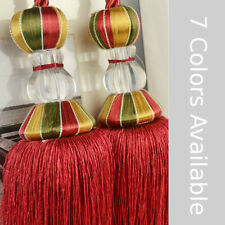 7 Colors Acrylic Curtain Tassel Tie Backs Double Tassels sold by pair QYM52