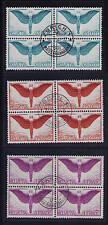 Schweiz, Mi-Nr. 189-191 z, Viererblock, zentrisch gestempelt, Flugpost Ikarus