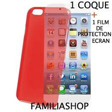 Housse étui pochette coque rouge iphone 6 4.7 + 1 film de protection écran