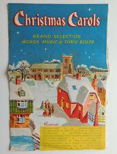 Christmas Carols vintage Xmas song book words sheet music tonic sol-fa