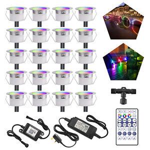 Wifi Colored RGB Control APP LED Decking Lights Yard Garden Stair Lighting Lamp