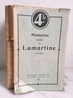 Mémoires Lamartine No Publicado 1790-1815 París Hachette Y Cie 1909