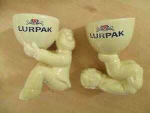 Pack 1 BOXED Vintage Limited Edition Lurpak 'Douglas' Egg Cups Brand New