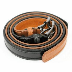 Set of 2 Gold Coast Men's Leather Belt Brown & Black - 38