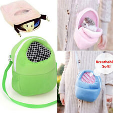 BL_ KF_ HK- Hamster Small Pet Cat Dog Carrier Portable Travel Packet Bag Mesh Po