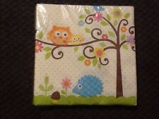 Happi Tree Owl Baby Shower Party Supplies-Lunch Napkins 16ct.