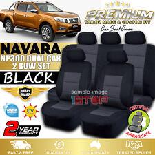 NISSAN NAVARA D23 NP300 DUAL CAB 2015-2018 BLACK SEAT COVERS DX RX SL ST STX