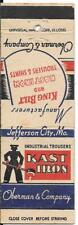 KAST IRON INDUSTRIAL TROUSERS - JEFFERSON CITY, MISSOURI EARLY MATCH COVER