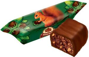 Traditional Russian Chocolate Candies BELOCHKA  little squirrel