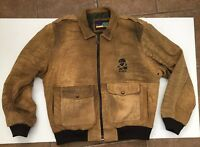 Tony Nowak Authentic Rare Brown Leather Jacket XL Made In USA