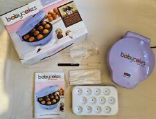 Babycakes 12 Cake Pop Maker Donut Holes Nonstick Coated Lavender USED ONCE