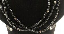 SILPADA Sterling Silver Triple Strand Black Onyx Bead Necklace N1500
