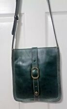 PATRICIA NASH Antique Green Venezia Leather Crossbody Purse Bag New eaaf5c4143a60