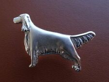 Sterling Silver English Setter Standing Study Lapel Pin