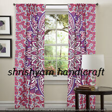 Indian Mandala Pattern Bed Room Wall Curtain Cotton Panel Fabric Sheer Curtains