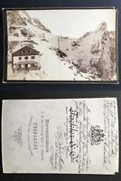 Deutschland, Tegernsee Vintage albumen print, carte cabinet.  Tirage albuminé