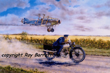 Brough Superior Lawrence of Arabia 'The Road' limited print by Roy Barrett