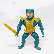 Vintage MotU MER-MAN He-Man Action Figure 100% Complete 80s Toy 1981 Merman
