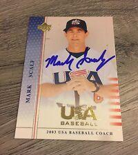 MARK SCALF UNC WILMINGTON BASEBALL HEAD COACH SIGNED 2003 UPPER DECK UD USA CARD