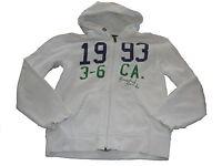 H & M tolle Kapuzen Sweat Jacke Gr. 146 / 152 weiß mit Druckmotiv !!