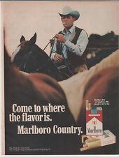 1972 Marlboro cigarettes Vintage print magazine advertisement