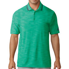 adidas Golf 2018 Ultimate 365 Textured Stripe Polo Shirt Mens Top Green L