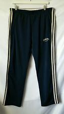Adidas Sweat Track Pants Olympics USA Athens 2004 Mens SMALL Blue Cream Stripes