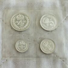 More details for 1984 qeii 4 coin silver proof maundy set in mint sealed pack - mintage 1238