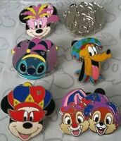 Mardi Gras Hats 2015 Hidden Mickey Set DLR Choose a Disney Pin