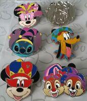 Mardi Gras Hats 2015 Hidden Mickey Set DLR Choose a Disney Pin