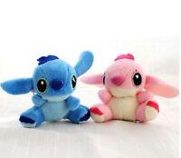 Disney Lilo Stitch with SCRUMP 7cm Soft Stuffed Plush Doll Toy Loose Set 0f 2
