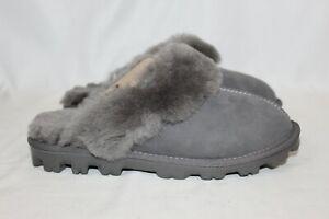 NEW Kirkland Signature Ladies' Woman's Shearling Slipper Grey Size 10