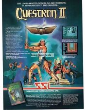 1988 SSI Questron II Computer Game Fantasy RPG Vtg Print Ad