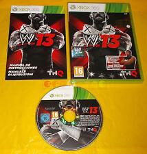 WWE 13 XBOX 360 W13 W 13 Versione Ufficiale Italiana 1ª Edizione ○ COMPLETO - CK