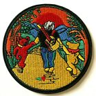 GRATEFUL DEAD - Embroidered Patch Sew Iron On Hippie Dancing Bears