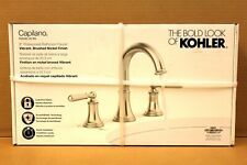 "KOHLER Capilano 8"" Widespread 2-Handle Bathroom Faucet Brushed Nickel NEW IN BOX"