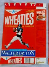 Walter Payton Chicago Bears Commemorative  Wheaties Cereal Box 12 oz