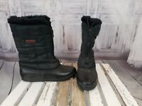 Sorel Womens Big Girls Black Brown Winter Snow Cold Weather  Boot Shoe Size 6