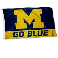 College Flags and Banners Co. Michigan Wolverines Go Blue 3*5 FT
