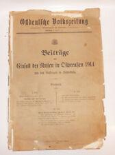 Beiträge zum Einfall der Russen in Ostpreußen 1914 Insterburg * Selten !