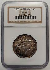 1926-S Silver Oregon Commemorative Half Dollar NGC MS65 Pretty Coin  6008
