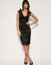Satin V Neck Wiggle, Pencil Dresses for Women