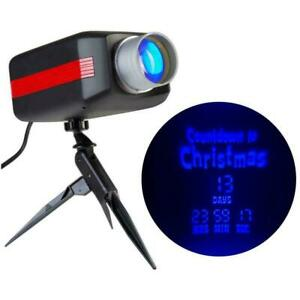 Gemmy Bright LED Projection Countdown to Christmas in Blue Light Digital Power